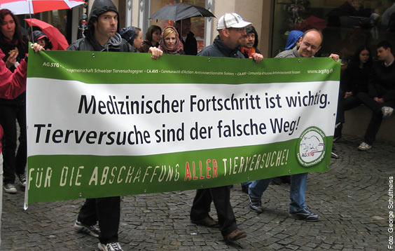 Aktionstag und Demonstration gegen Tierversuche - Tübingen, 18. April 2009